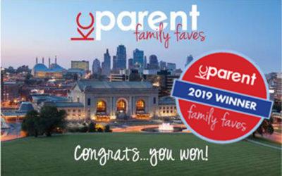 KC Parent Magazine Family Faves Award 2019
